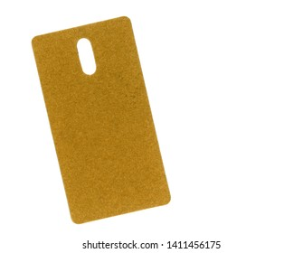 brown cardboard tag label isolated over white background