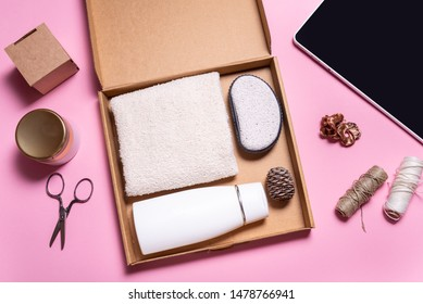 Brown carton box, Beauty Subscription Box