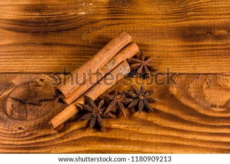 Brown Cinnamon Sticks Star Anise On Stock Photo Edit Now