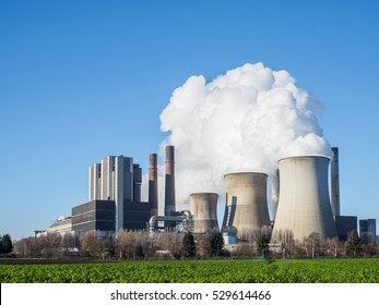 Brown coal fired power plant. Weisweiler, Germany