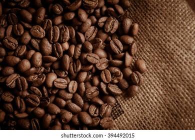 Brown coffee caffeine beans background