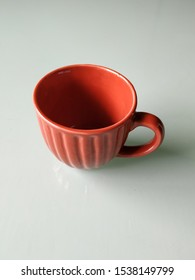 Brown color clay or sand empty coffee cup