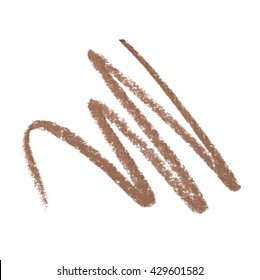 Brown color Cosmetic pencil strokes