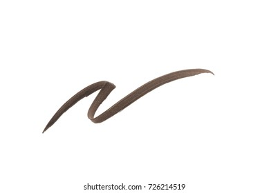 Brown color Eye liner stroke on white background