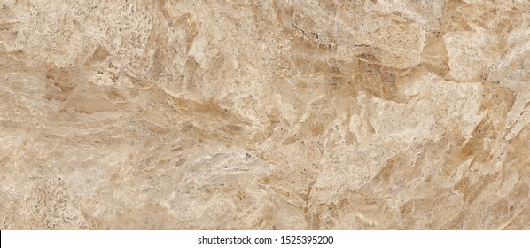 Brown Colored Natural Marble Stone With Ivory Tone Curly Veins, Very High Quality Marble For Slab Tiles, Interior-Exterior Home Decoration And Ceramic Tile Surface, Wallpaper, Web Page Background.