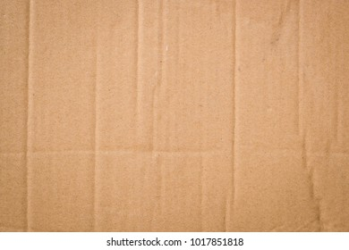 Brown corrugated cardboard with creased