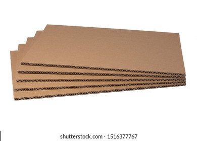 Brown corrugated cardboard isolated on a white background
