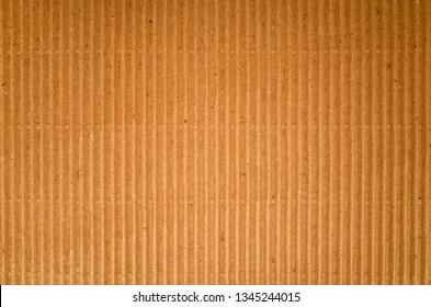 Brown corrugated cardboard paper background