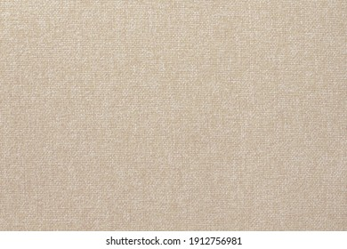 Brown cotton fabric cloth texture for background, natural textile pattern.