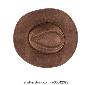 Brown cowboy hat on white isolated background 5c08d853fe7