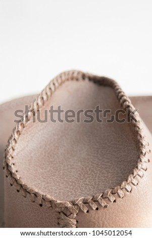 Brown Cowboy Hat Use Farm Stock Photo (Edit Now) 1045012054 ... a2747111c475