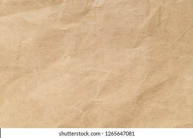 Brown crumpled paper texture for background