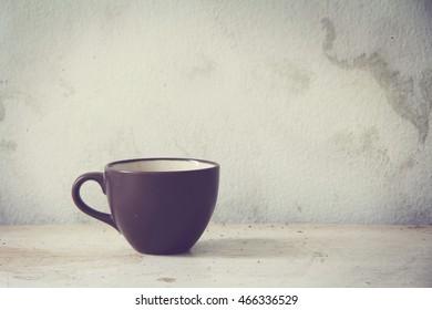 Brown cup.Vintage Style