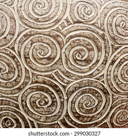 brown curly circle pattern texture