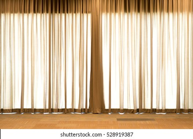 Brown curtains for background