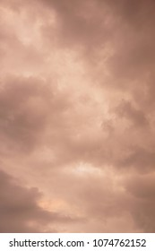 Brown dark clouds background