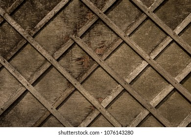 Brown Distressed Wood Background Texture with Criss Cross Wood Panels