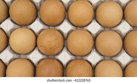 brown egg, chicken egg in a tray, pack of eggs