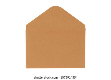 Brown envelope isolated on white background. clipping path - Shutterstock ID 1075914554
