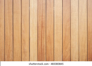 Brown exterior wooden decking or flooring on the terrace