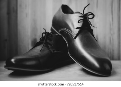 Brown fashion leather male shoes