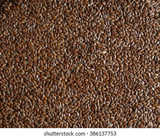 Brown flaxseeds, flax seeds,  common flax