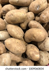 Brown fresh potatoes