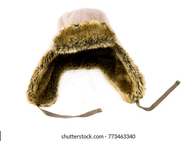brown fur hat with fur