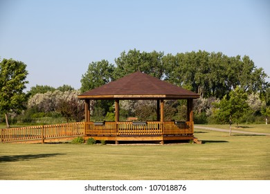 brown gazebo