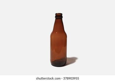 Brown glass bottle of beer