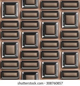 brown and glass seamless tileable decorative background pattern