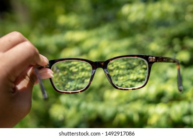 Brown glasses uv protection sunglasses  for short or long sight On hand ,Concept