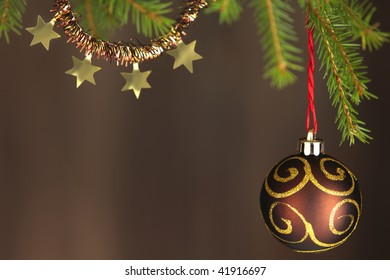 Brown and Gold Christmas tree decorations