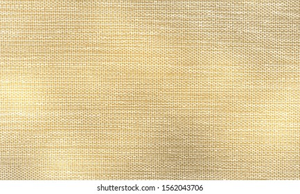 Brown, gold and white striped fabric background. Gold Metallic Thread Striped Knitted Fabric. Gold glittering diagonal lines pattern background. Golden vintage seamless pattern for design