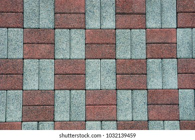 Brown gray background of stone square paving slabs