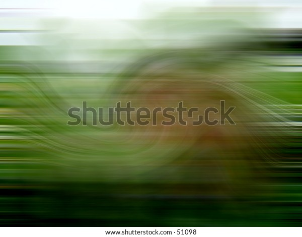 Brown and Green Blur