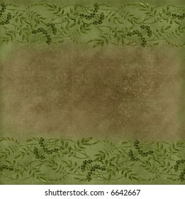 brown and green grungy paper