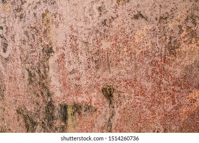 Brown grunge Crack of earthenware  texture for background