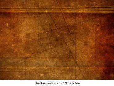 Brown grunge fabric background with creases