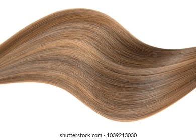 Brown hair wave isolated on white background