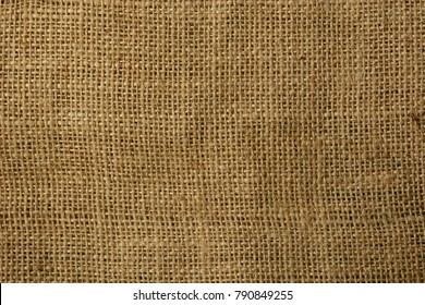 brown jute texture in horizontal - closeup