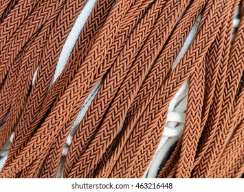 brown laces or laces are located diagonally.