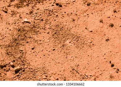 Brown land of Sumerians on the territory of burial mounds in Bahrain. Dilmun civilization. Background and Texture. High resolution