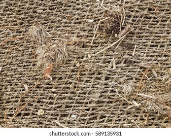 brown landscaping fabric