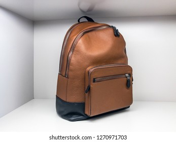 Brown Leather Back Pack