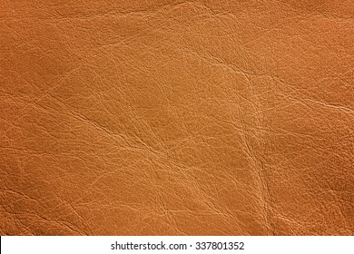 A brown leather texture which can be used as background.