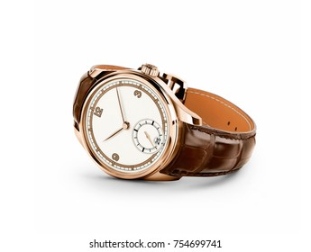 brown leather watch for men