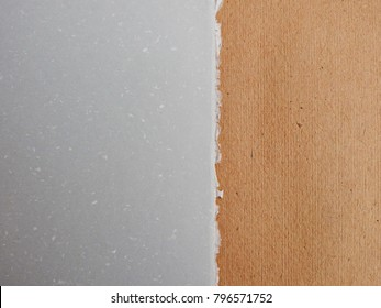 Brown and light gray paper. Background structure.