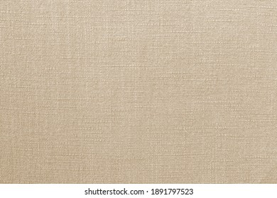 Brown linen fabric texture background, seamless pattern of textile.