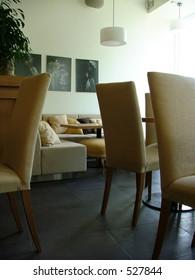 brown lounge interior